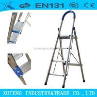 anti rust strong built stainless steel padded folding step ladder