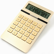 Y-1109 aluminum surface 10-digits electronic calculator solar