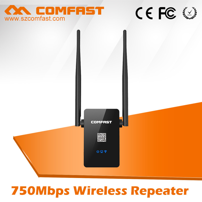 WiFi Networking Devices with Dual Band COMFAST CF-WR750AC High Power Wireless Wifi Repeater/ Wifi Repeater 220v