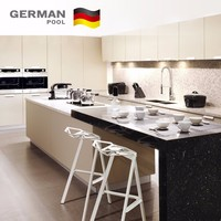 German Pool OEM and ODM Combinations Waterproof Quartz Particleboard for Exhibition kitchen cabinet design for small kitchen