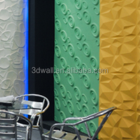 Interior wall decor wood material 3d designer acoustic wall panels
