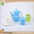 2015 Unique design crown decorative colorful made eco-friendly ceramic porcelain turkish tea pot