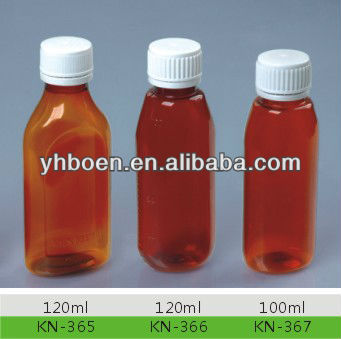 factory original plastic pet brown medicine bottle ( liquid bottle)