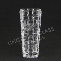 high quality square glass vase for decoration