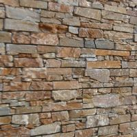 hot sale natural yellow slate cement back stacked culture stone prefab stone wall
