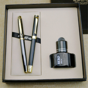 Factory direct New Arrival Colourful Metal Fountain Pen with Golden Plated Nib for Customized design