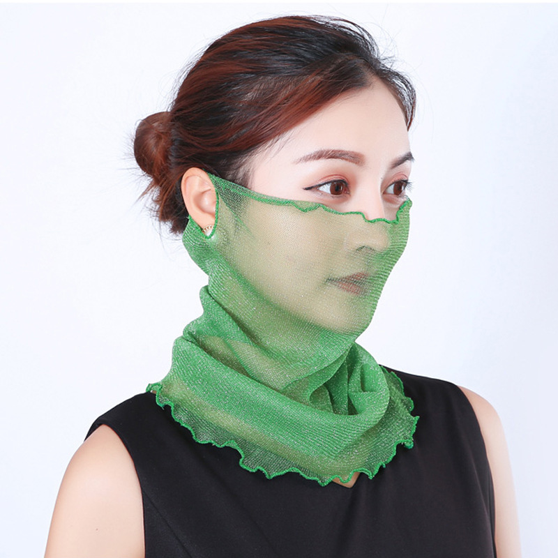 Lady sunscreen mask <strong>scarf</strong> for summer spring collar veil designer silk <strong>scarf</strong> Headwear multi-function <strong>Scarf</strong>