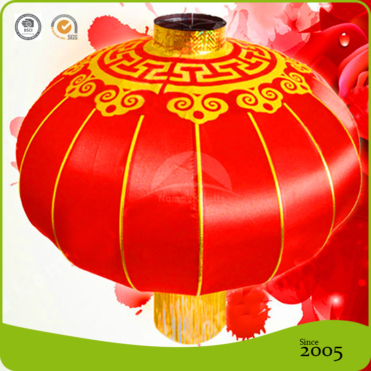 Outdoor Round Silk chinese palace Lanterns For Holiday Decoration