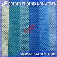 SMS non woven fabric for medical use with anti-alcohol propertie