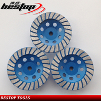 100-230mm Diamond Super Turbo Segmented Cup Grinding Wheel for Stone