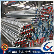 Pre galvanized steel pipe with both ends thread, one end socket