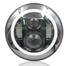 "7"" Round LED Headlights w/ Switchback LED Halo Rings For Jeep Wrangler CJ, Also any car with 7"" round shape headlamps"