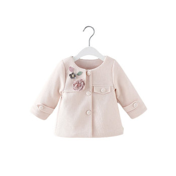 2019 Spring new girls coat cute little flowers children spring autumn windbreaker jacket