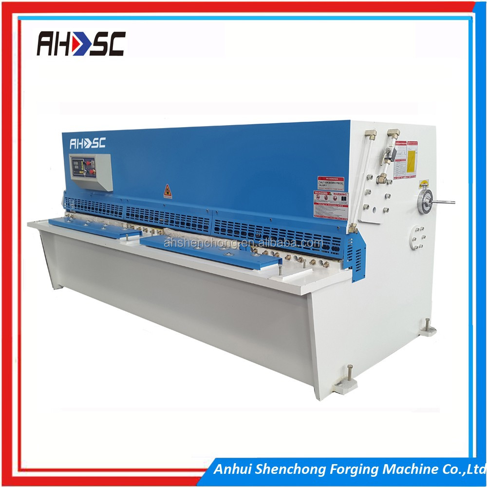 China high security key cutting machine/hydraulic press cutting machine/cnc sheet plate shears 4/6000