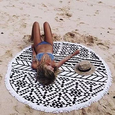 China sexy round beach towel microfiber/ custom beach towel wholesale