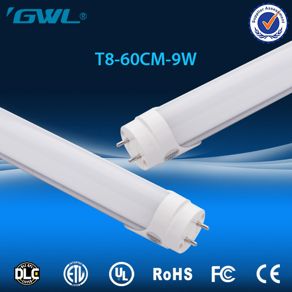Aluminum pc cheap competitive etl led tube t8 600mm 9w with CE,ROHS, FCC approved
