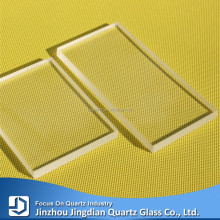 JD High Transmittance 1mm Thick Transparent Quartz Plate Glass