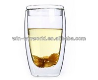 Hot Selling Double Wall Glass Mugs With Lid