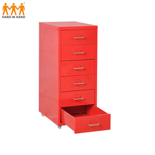 Modern upright design cam lock cosmetic mobile storage cabinet