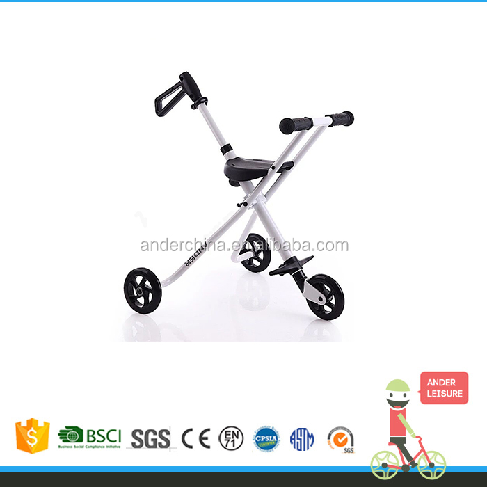 Mini pushing trike foldable steel balance bike