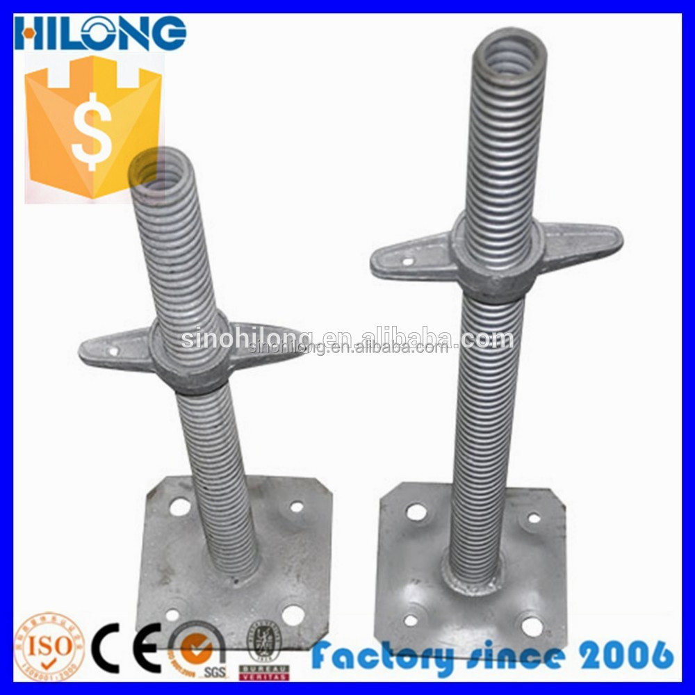 Adjustable Scaffolding screw jack with flange