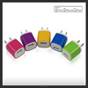 Candy Colored US Plug USB Power Wall Home Travel Charger Adapter For iPhone 5 5S 4 4S samsung cell phones