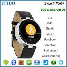 Leather + SIM/TF + SOS watch phone android for Gionee /xiaomi 5 5s Apple