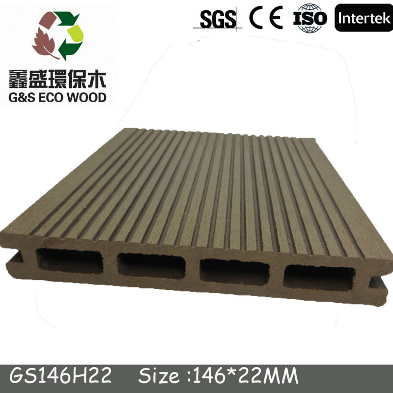 wpc hollow decking with different colors /wpc decking Manufacturer