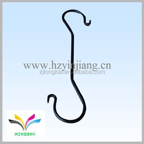 Chinese supplier own factory S shape metal curtain hanging hooks