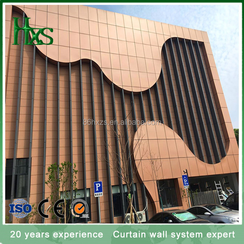 One-stop solution aluminum plate curtain wall for interior and exteroir decoration