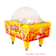 kids electronic pinball redemption machine basketball hoop table arcade prize game machine