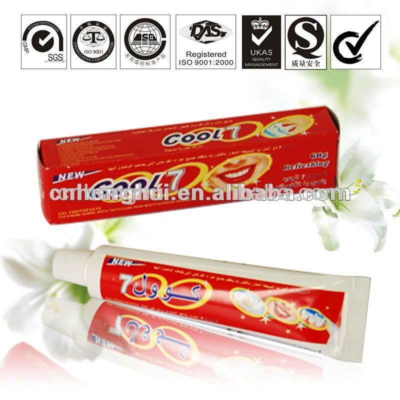 brand cool 7 toothpaste tooth whitening gel