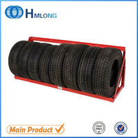 Wall-mount tyre display semi trailer spare tire rack