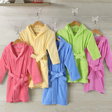 Cheaper Colored high quality animal hood bathrobe for kids