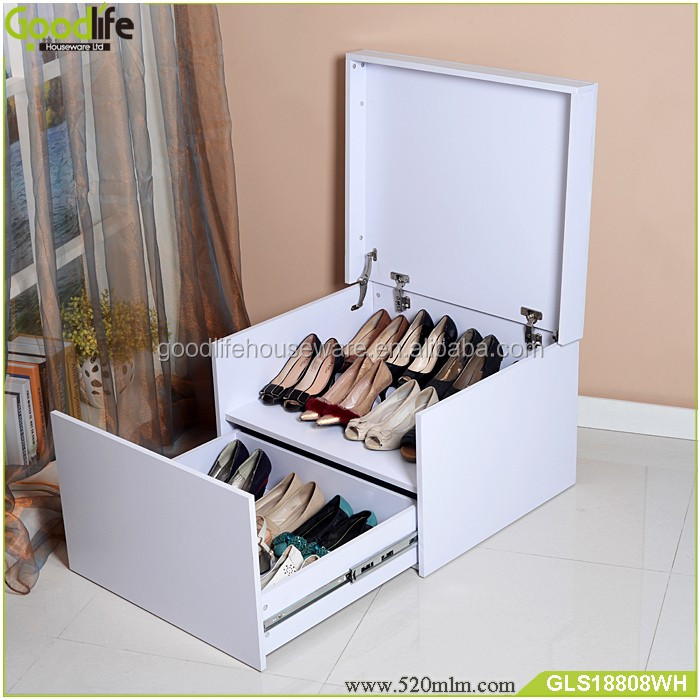 Home furniture modern wholesale wooden giant shoe box cheap