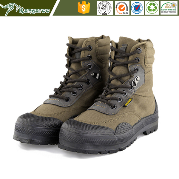 Men Lightweight Brown Black Camo Color Canvas Upper 100 Natural Rubber Sole 6 inch Military Combat Tactical Hiking Boots