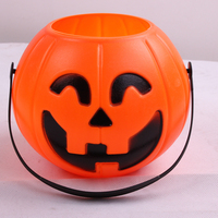 wholesale plastic pumpkin Halloween candy buckets