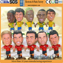 Custom make mini size soccer toy figure,custom plastic footabll mini figure soccer player toys