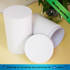 White rigid cardboard round shape paper box with lid
