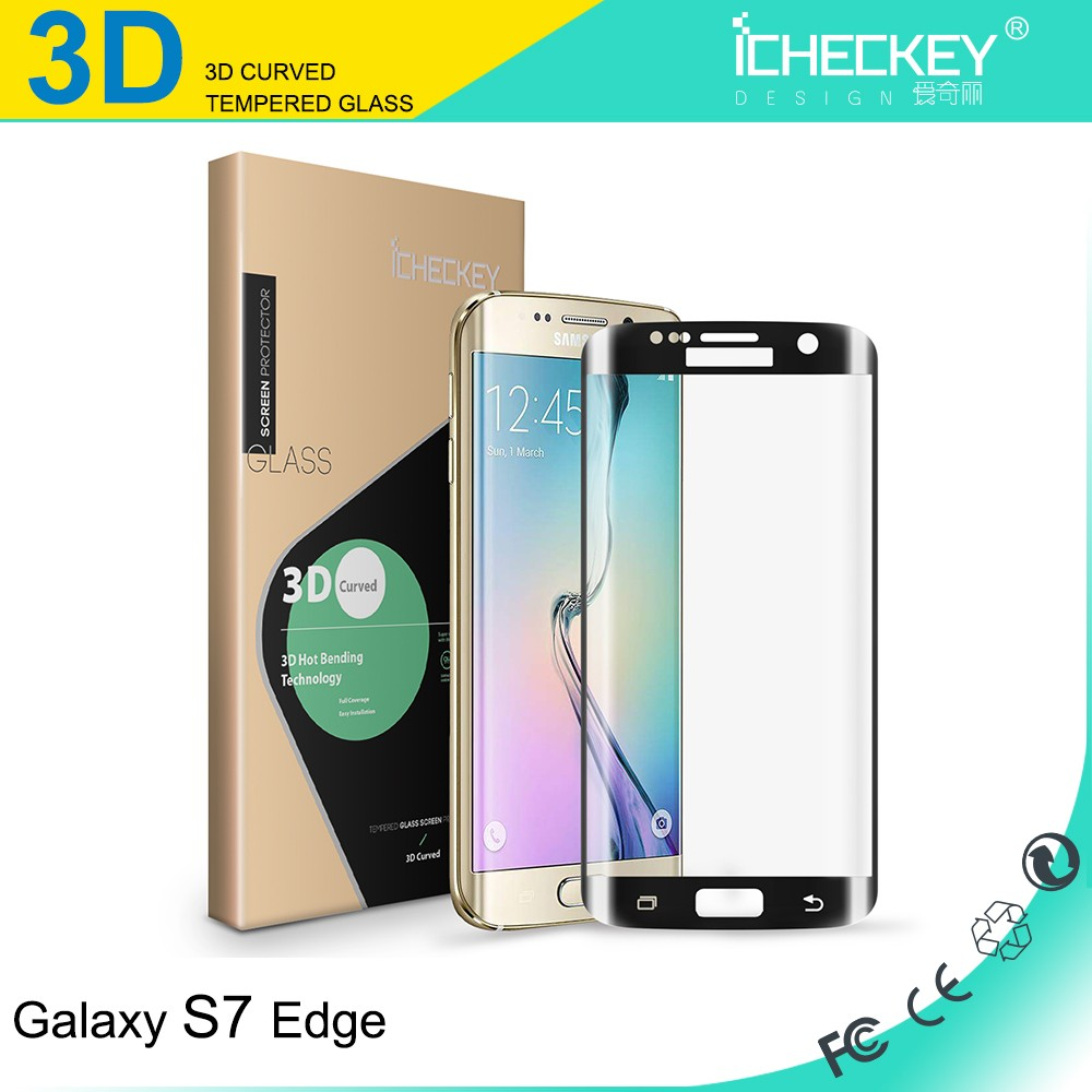 Manufacturer!Explosion-proof 9H Tempered Glass Screen Protector for Samsung Galaxy S7 Edge