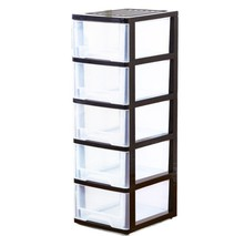 5 layers plastic storage cabinet with drawer