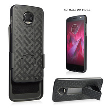 New Arrival Rugged Hybrid Dual Layer Kickstand Belt Clip Holster Combo Mobile Phone Case for Motorola Z2 force/Z2 play