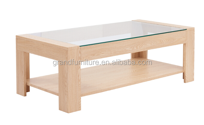 Hot Italian Luxury MDF and Glass Top Coffee Table Dining Table