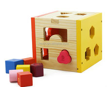 Shape Sort Box Wooden Toy Box Wholesale