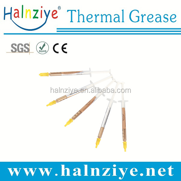 pack gold thermal paste grease compound in different volume syringes