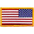 3d embroidered american flag patch with iron on backing