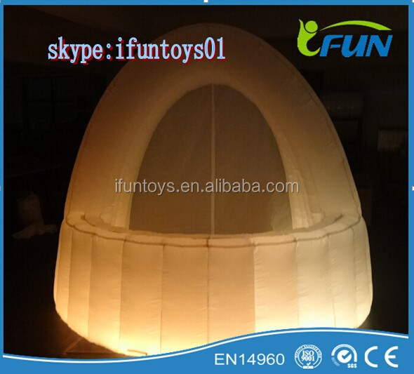 inflatable bar tent with LED /DJ bar booth inflatables /inflatable bar dj tent for party