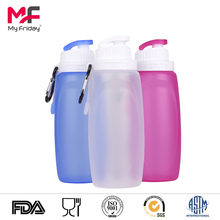 silicone squeezable travel water bottle