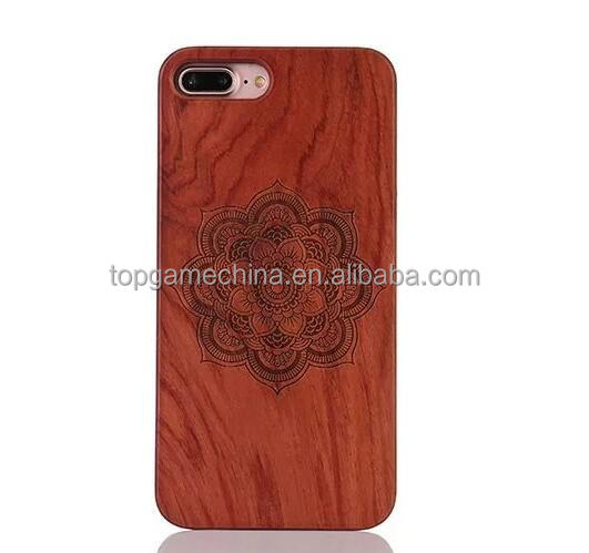 Engraving wooden cell phone case,for iphone 7 plus case pc back covers