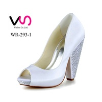 2015 dyeable ivory satin bridal shoes/wedding shoes woman/wedding shoe